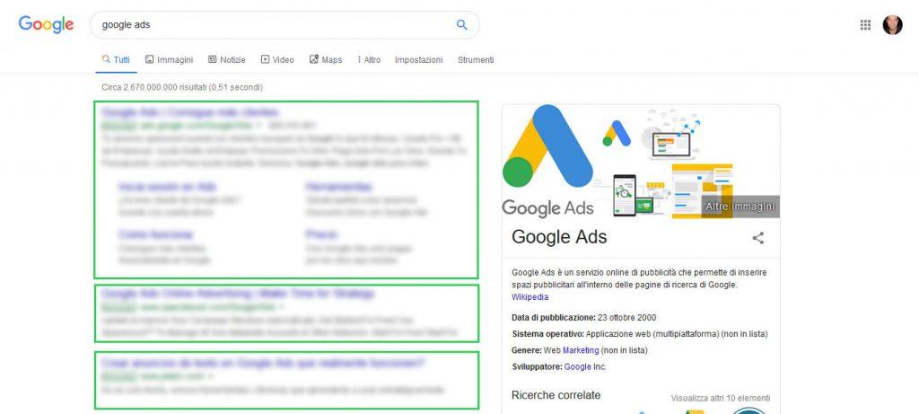 google ads ricerca
